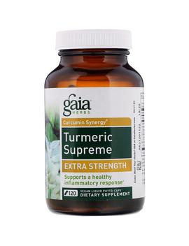 Gaia Herbs, Turmeric Supreme, Extra Strength, 120 Vegan Liquid Phyto Caps by Gaia Herbs