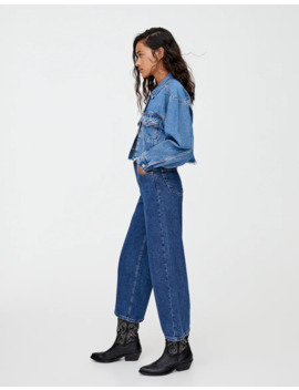 Basic Blauwe Culotte Jeans by Pull & Bear