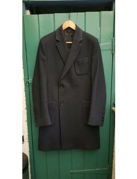 Reiss 'jeremy' Black Check Overcoat Small by Ebay Seller