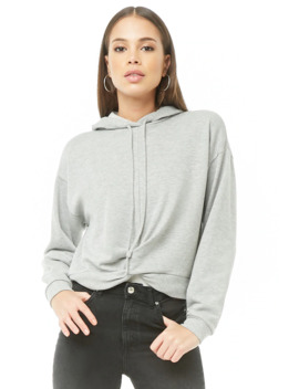 Twist Front Cropped Hoodie by Forever 21