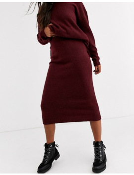 Asos Design Co Ord Skirt In Fluffy Yarn by Asos Design