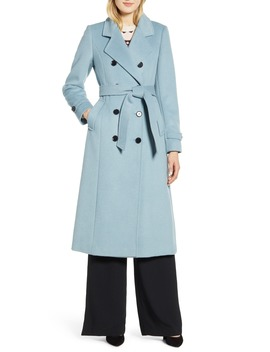 X Atlantic Pacific Long Wool Blend Trench Coat by Halogen®