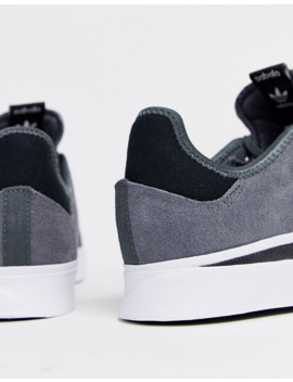 Adidas Skateboarding Sabalo Trainers In Grey Suede by Adidas