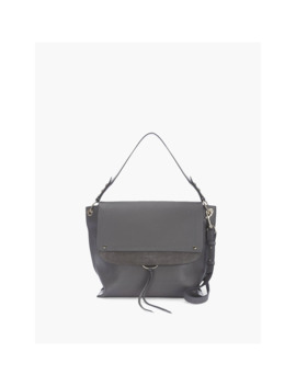 Mint Velvet Sadie Large Leather Shoulder Bag, Grey by Mint Velvet