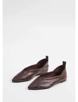 Pantofi Din Piele Imitație Piele De șarpe by Mango