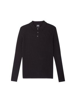 Black Muscle Fit Polo by Burton