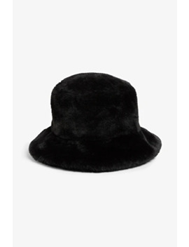 Faux Fur Bucket Hat by Monki