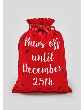 Dog Christmas Sack (32cm X 46cm) by Matalan
