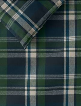 Archie Brushed Cotton Checked Bedding Set by Marks & Spencer