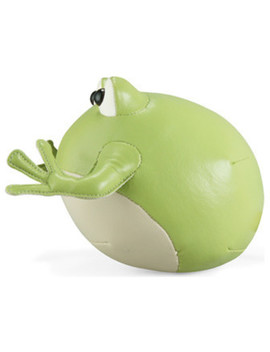 Frog Bookend, Green by Zuny