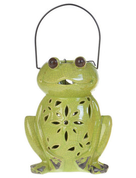 Floral Frog Lantern, Green by Drew Derose Designs