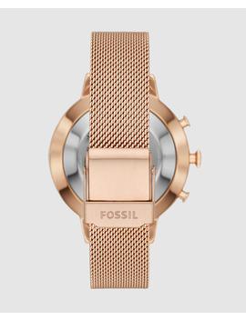 Smartwatch Híbrido Fossil Q Jacqueline Ftw5018 De Acero Rosa by Fossil