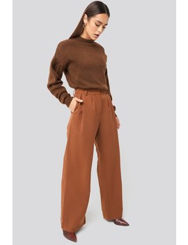 Flowy Tailored Pants Brown by Hannaweigxnakd
