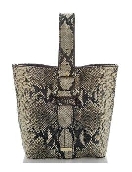 Caviar Felix Collection Carla Snake Skin Tote Bag by Brahmin