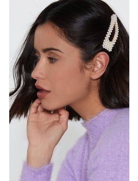 Barrettes Cheveux Oversize J'aime Ton Franc Perler by Nasty Gal