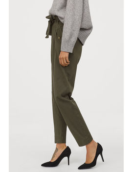 Pantalon Paper Bag En Twill by H&M