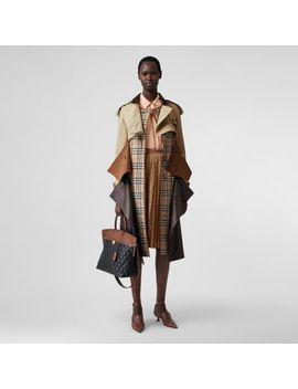 Deconstructed Cotton And Lambskin Trench Coat by Burberry