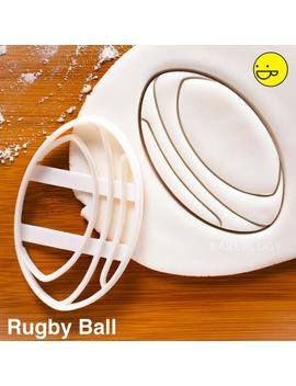 Rugby Ball Cookie Cutter   Sports Theme Birthday Party by Etsy