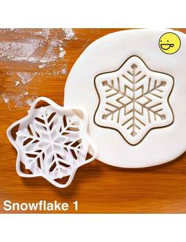 Snowflake Cookie Cutter | Ice Crystal Biscuit Cutters | 下雪 강설 | Symmetry Frozen Snow Flake Facets Fractal Art Flakes One Of A Kind Ooak by Etsy