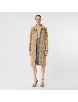 Embellished Cotton Gabardine Car Coat by Burberry