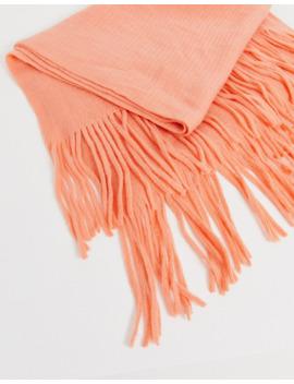 Asos Design – Langer Schal Mit Fransen Aus Superweichem Strick by Asos