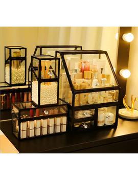 Big Makeup Organizer / Large Makeup Storage Drawers / Glass Cosmetics Storage / Perfume Organizer / Perfume Holder / Bathroom Storage by Etsy