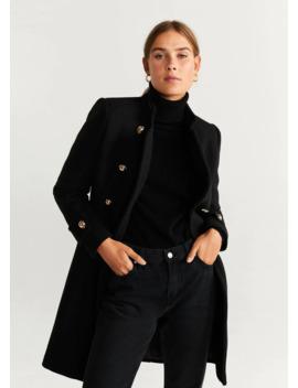 Παλτό μάλλινο διπλή σειρά κουμπιών by Mango