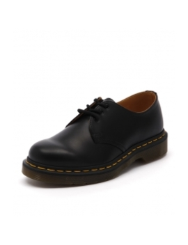 1461 3 Eye Gibson Black Smooth Leather by Dr Marten