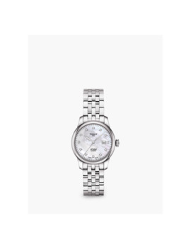Tissot T0062071111600 Women's Le Locle Automatic Diamond Date Bracelet Strap Watch, Silver by Tissot