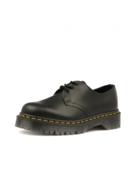 1461 Bex 3 Eye Shoe Black Smooth Leather by Dr Marten