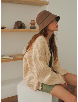 Chunky Knit Loose Cardigan by Stylenanda
