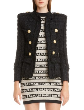 Double Breasted Tweed Jacket by Balmain