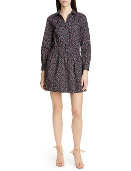 Sarah Ditsy Floral Long Sleeve Shirtdress by Ba&Sh