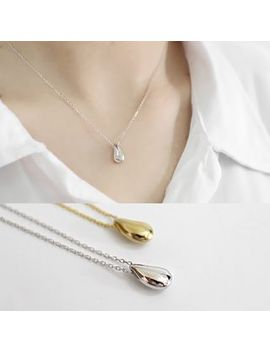 Phoenoa   925 Sterling Silver Droplet Pendant Necklace by Phoenoa