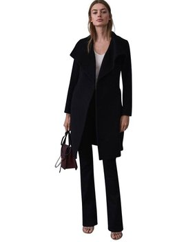 Luna  Belted Wool Jacket Coat by Reiss