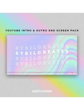 Pretty Pink Purple Trippy You Tube Intro And Outro End Screen Pack   Custom Animated Video   Video Editing   Art   Beauty   Fashion   Vlog by Etsy