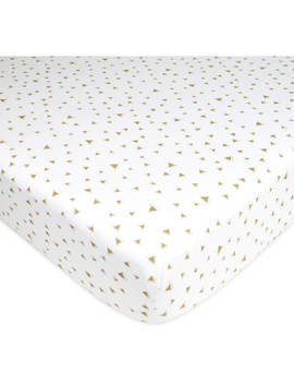 American Baby Company Printed 100% Cotton Jersey Knit Fitted Crib Sheet For Standard Crib And Toddler Mattresses, Taupe Triangles, For Boys And Girls by American Baby Company