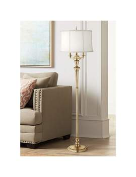 Stiffel Burnished Brass 4 Light Metal Floor Lamp by Lamps Plus