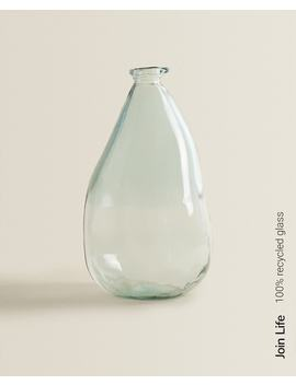 Rawshaped 100 Percents Recycled Glass Bottle   Decor Accessories   Decoration   Living Room by Zara Home