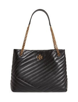 Kira Chevron Quilted Leather Tote by Tory Burch