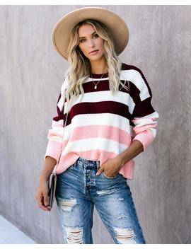 Sweetness In My Life Striped Sweater by Vici