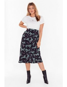 Bud Of Been There Floral Plus Midi Skirt by Nasty Gal
