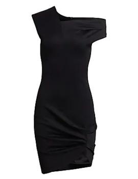 Asymmetrical Drape Dress by Helmut Lang