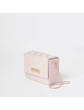 Light Pink Embellished Boxy Mini Cross Bag by River Island