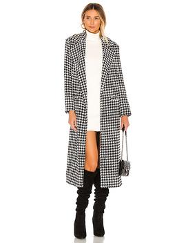 Sabra Coat In Black & White by Lovers + Friends
