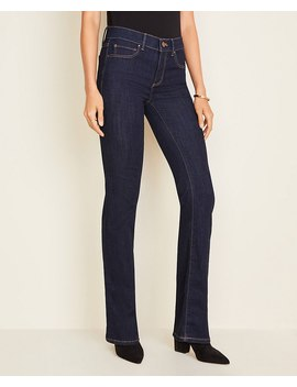 Tall Sculpting Pockets Boot Cut Jeans In Dark Rinse Wash by Ann Taylor