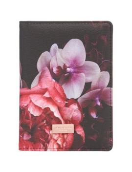 Splendour Black Floral Travel Organiser by Ted Baker