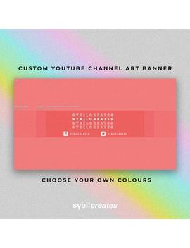 Modern Clean Custom You Tube Channel Art Banner   Branding   Graphic Design   Beauty   Fashion   Lifestyle   Vlog by Etsy