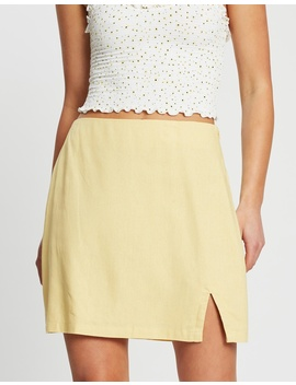 Woven Tara Split Mini Skirt by Cotton On