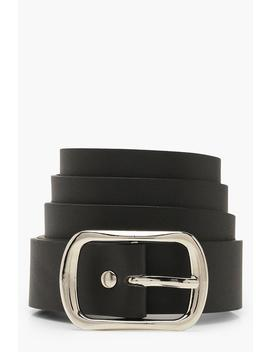 Silver Buckle Boyfriend Belt by Boohoo